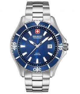SWISS MILITARY HANOWA Nautila Silver Stainless Steel Bracelet 06-5296.04.003