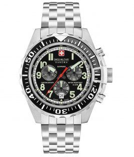 SWISS MILITARY HANOWA Touchdown Chronograph Silver Stainless Steel Bracelet 06-5304.04.007
