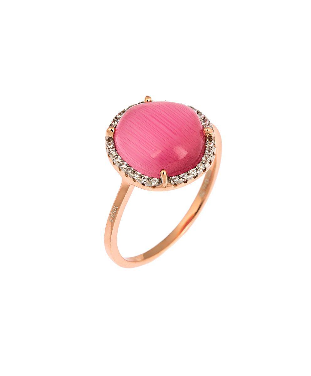 Ασημένιο δαχτυλίδι με ροζ πέτρα - Seferos a03906084d9