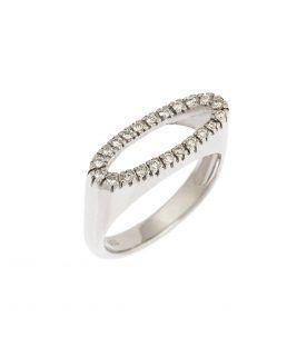 Δαχτυλίδι οpen oval diamond