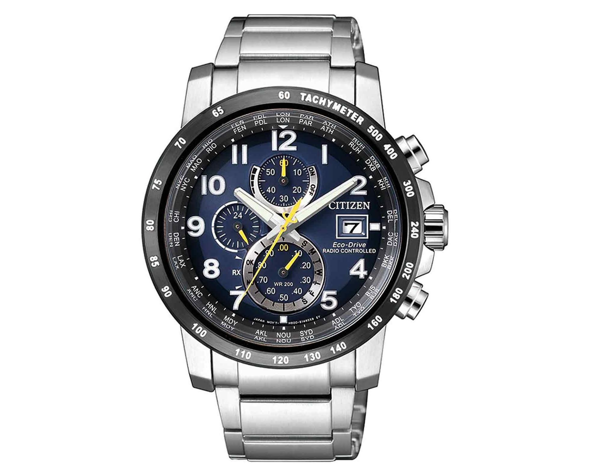 CITIZEN RadioControlled Chrono Tone Stainless Steel Bracelet AT8124 ... 53c7e79dc1d