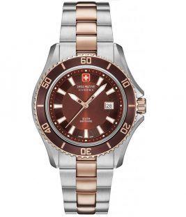 Ρολόι Swiss Military Nautila με ημερομηνία και μπρασελέ 06-7296.12.005