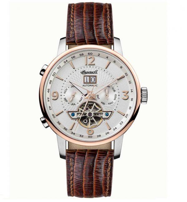 Ρολόι INGERSOLL The Grafton Automatic Brown Leather Strap I00701