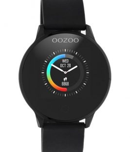 OOZOO Smartwatch Black Rubber Strap Q00115