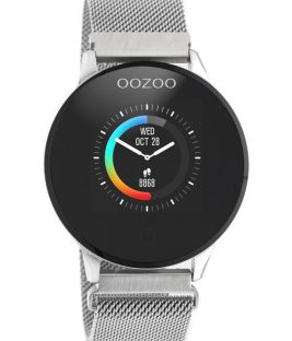 OOZOO Smartwatch Silver Stainless Bracelet Q00116