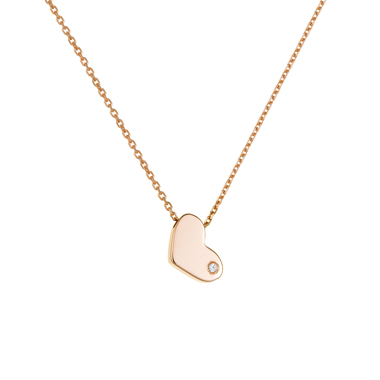 Κολιέ καρδούλα ροζ - Seferos c7d3dd332bb