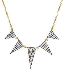 Κολιέ triangle 14k