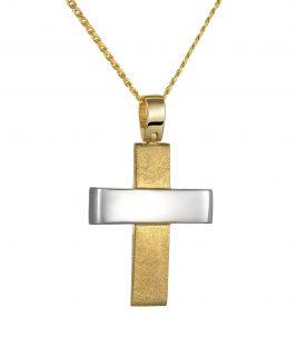 Βαπτιστικός σταυρός δίχρωμος