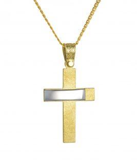 Βαπτιστικός σταυρός Τριάντος Xρυσός