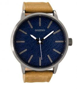 OOZOO Timepieces XXL Brown Leather Strap C9026