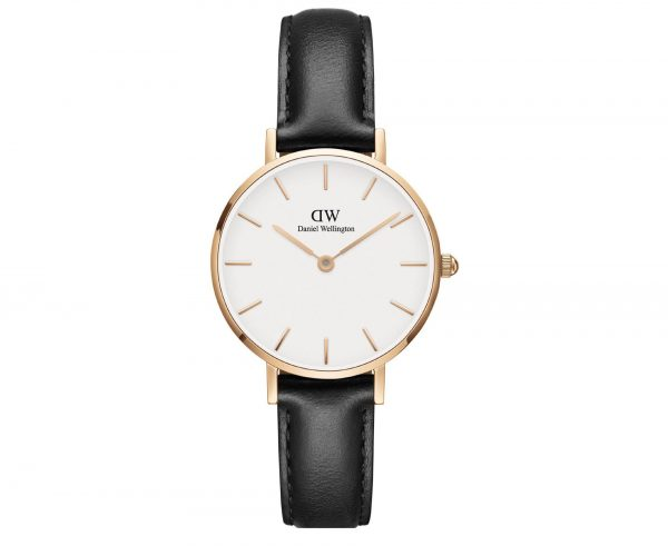 DANIEL WELLINGTON Petite Sheffield Black Leather Strap DW00100230