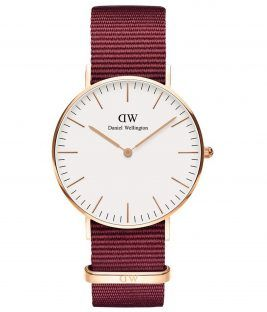 DANIEL WELLINGTON Roselyn Bordeaux Fabric Strap 36mm DW00100271