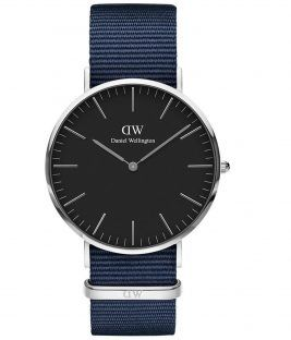 DANIEL WELLINGTON Bayswater Blue Fabric Strap 40mm DW00100278