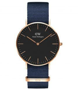 DANIEL WELLINGTON Bayswater Blue Fabric Strap 36mm DW00100281