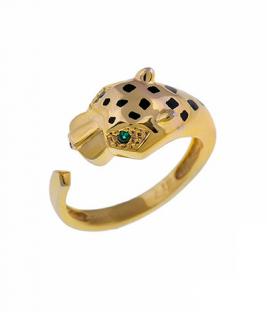 Χρυσό δαχτυλίδι πάνθηρας