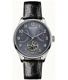 INGERSOLL Hawley Automatic Black Leather Strap I04604
