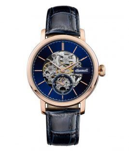 INGERSOLL Smith Automatic Rose Gold Black Leather Strap I05706
