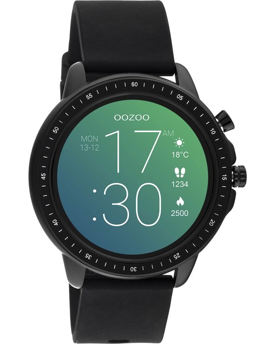 OOZOO Smartwatch Black Rubber Strap Q00304