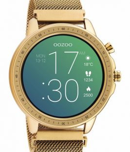 OOZOO Smartwatch Rose Gold Metal Mesh Bracelet Q00307