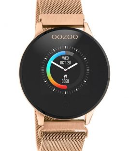 OOZOO Smartwatch Rose Gold Stainless Bracelet Q00117