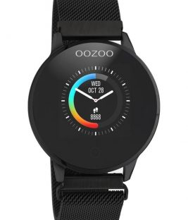 OOZOO Smartwatch Black Stainless Bracelet Q00119