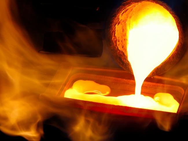 Η διαδικασία της τήξης του χρυσού