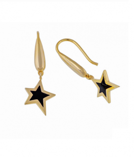 Σκουλαρίκια χρυσά με αστέρι