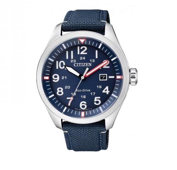 Citizen Eco-Drive Military με μπλε λουράκι AW5000-16L