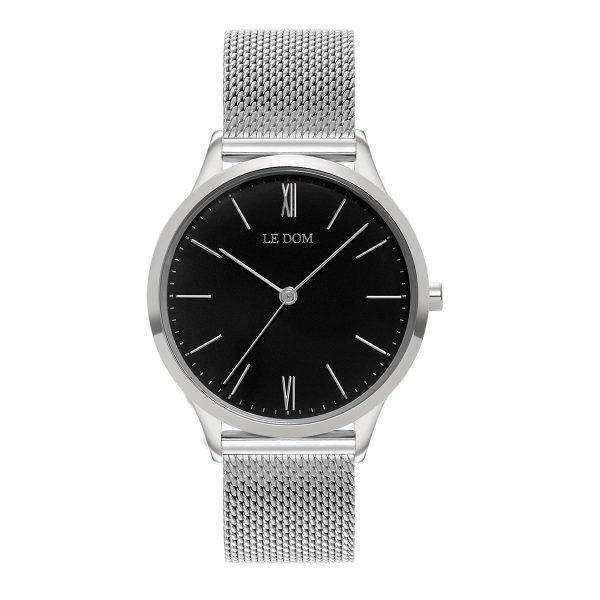 le-dom-gunaikeio-roloi-classic-lady-silver-black